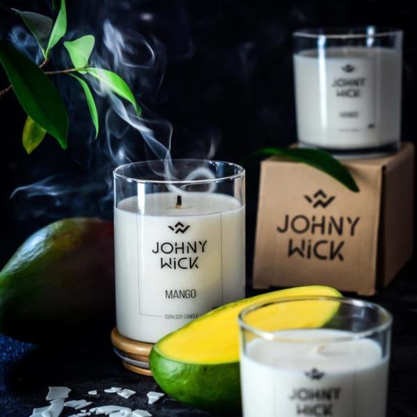 świeca sojowa w słoiku mango