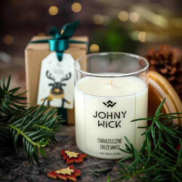 świąteczna świeca zapachowa